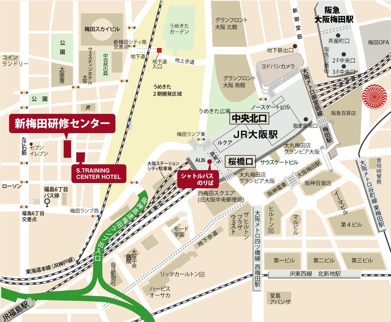 JR大阪駅から、直通バスで5分  無料